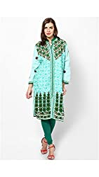 Cotton Turq Chinese Collar Kurti