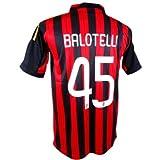 サッカーユニフォーム 13-14 ACミラン ホーム 背番号 45 マリオ バロテッリ