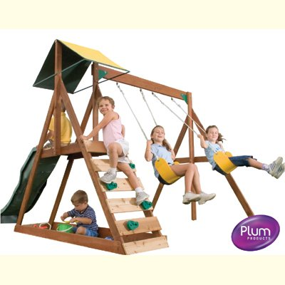Sunview wooden garden play centre climbing frames - swings, slide & more