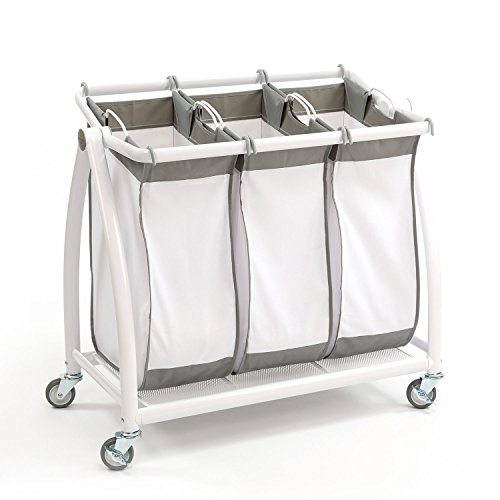 Tilt 3-Bag Laundry Sorter in Snow White