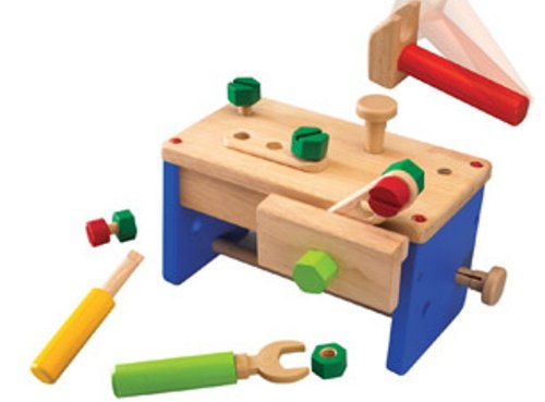 Wonderworld Work Bench 'N' Box Portable Play Carpentry Construction Toy Set + Cool Transformation, Bench to Tool Box (Portable Tool Bench compare prices)