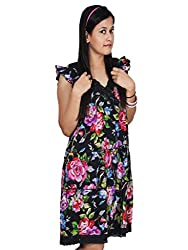 Polita women's Layered Western Fit dres/ Floral Print Party Wear Dress for women, Ladies,Girls/ Gorgeous Party wear dress for ladies/Women/Girls/ Quick Delivery