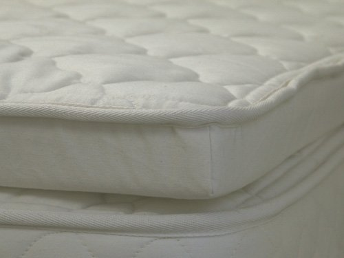 Lifekind Cloud - Organic Natural Rubber Latex Pillow Top - Twin (2.5 Inches Deep) front-334215