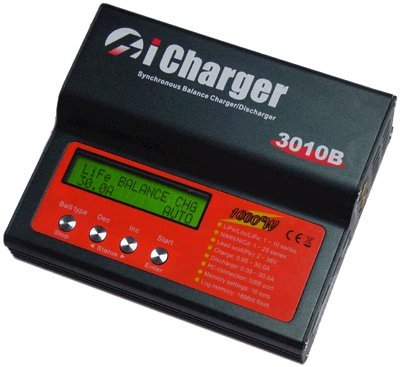 LiPo Balance Battery Charger and Discharger (iCharger 3010B+) 1S-10S packs up to 30 amp charge rate Charge and discharge LiPo/LiIo/LiFe/NiCd/NiMH types of RC and other Batteries