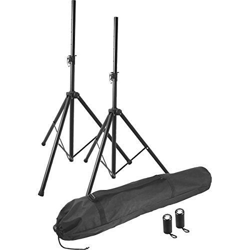On-Stage Stands Ssp7855 Professional Steel Speaker Stand Pak Black