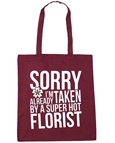 hippowarehouse-sorry-im-already-taken-by-a-super-hot-florist-tote-shopping-gym-beach-bag-42cm-x38cm-
