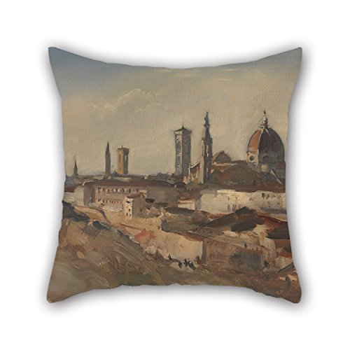 Bestseason Oil Painting Hercules Brabazon Brabazon - Florence Throw Christmas Pillow Case 18 X 18 Inches / 45 By 45 Cm Gift Or Decor For Husband Coffee House Couples Christmas Kitchen - Two Sides (Blackbird Food Co compare prices)