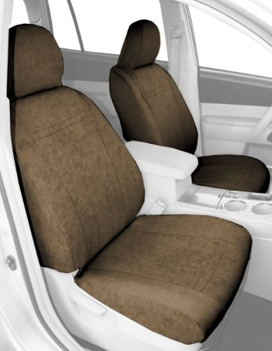 Caltrend Front Row Bucket Custom Fit Seat Cover For Select Honda Cr-V Models - Microsuede (Beige) front-166913