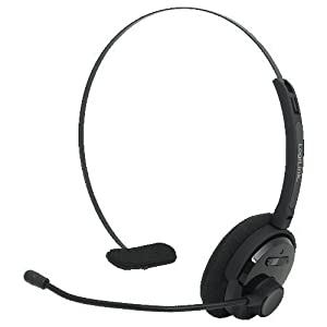 LogiLink Bluetooth Mono Headset with Headband and Microphone