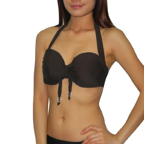 B.P.C Womens Soft Padded Underwired Bra / Surf & Swim Bikini Top - Quick Dry