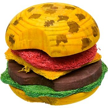 Super Pet ComboToy Wood Hamburger and Loofa Bites Small Animal Chews
