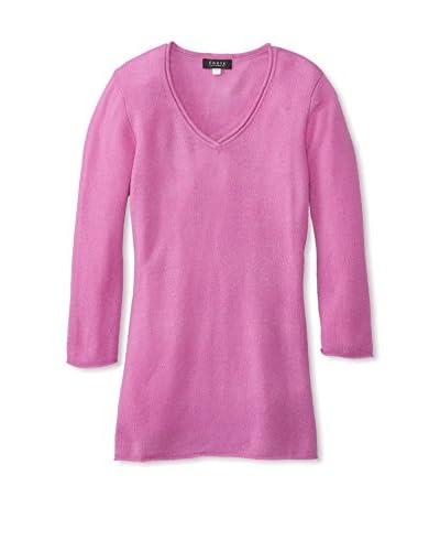 Forte Women's Roll Edge Cashmere Sweater