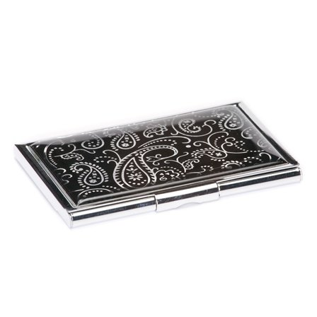 Black Paisley Business Card Case