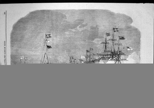 old-original-antique-victorian-print-progress-princess-alexandra-squadron-nore-saluting-yacht-1863-8