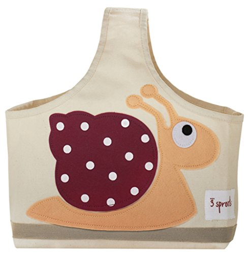Find Bargain 3 Sprouts Storage Caddy, Snail, Red