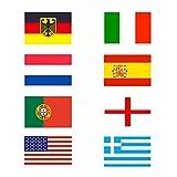 Taffstyle® Fanartikel Fussball Weltmeisterschaft WM & EM Europameisterschaft 2016 Länder