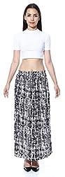 Black n White Stroke Skirt