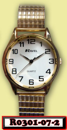 WATCHES - LADIES RAVEL QUARTZ WATCH GILT EXPANDING