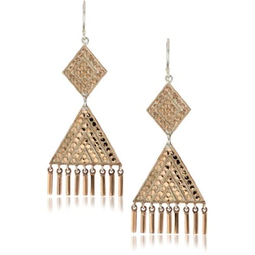 Anna Beck Designs Lombok 18k Rose Gold Plated Chandelier Bar Earrings