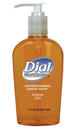 Dial Professional 84014 Liquid Dial Gold Antimicrobial Soap Decorative Pump 7.5 Oz. (Case of 12)