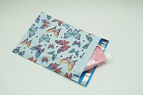10x13 yellow orange butterflies designer poly mailers