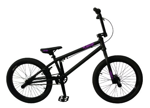 Madd Gear 20-Inch Boost BMX Bike, Black/Purple MGP Logo