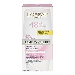 LOreal Paris Ideal Moisture Day Lotion SPF 25, Dry Skin, 4.0 Fluid Ounce