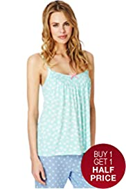 Secret Support™ Floral Smocked Camisole Pyjama Top