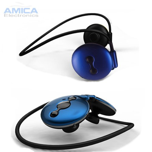 Blue Wireless Stereo Bluetooth Headset With Built-In Mic For All T-Mobile Phones