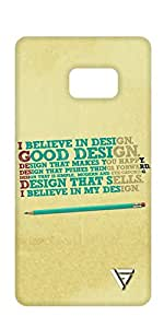 Vogueshell I Believe in Design Printed Symmetry PRO Series Hard Back Case for Samsung Note 7