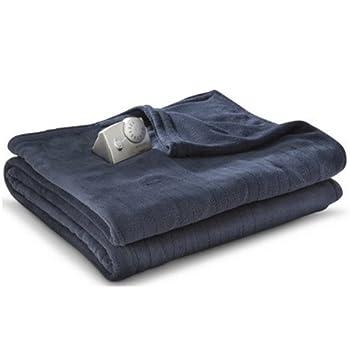 Biddeford MicroPlush Analog Twin Electric Blanket, Indigo Blue
