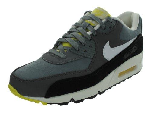 Nike Air Max 90 Premium PRM Cool Grey White Sail Black Shoes 333888 020 Size 12