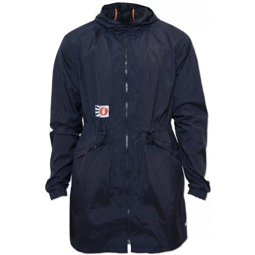 Your Own Mens Navy Miyoshi Long Jacket Designer Hooded Drawstring Waist Coat NEW Navy Medium