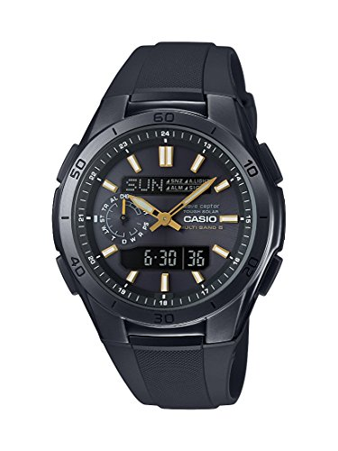 CASIO Men's Quartz Watch with Black Dial Analogue - Digital Display and Black Resin Strap WVA-M650B-1A2ER
