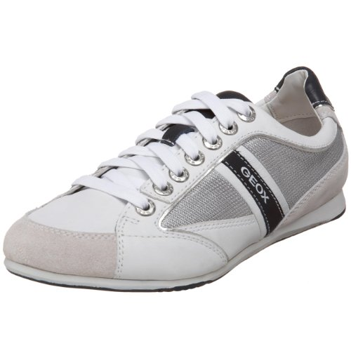 sarcoma Automático Glorioso  Geox Uomo Andrea Fashion Sneaker: Geox Men's Uomo Andrea Fashion  Sneaker,Silver/ White,39 EU (US Men's 6 M)