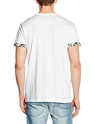 New Look Men's Slub Floral Pocket T-Shirt