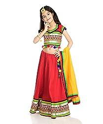 Little pocket store Red Fine Quality Cotton Chaniya Choli Set
