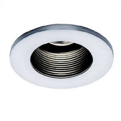 Bundle-47 Low Voltage Die-Cast Recessed Lighting Trim With Basic Baffle (Set Of 13) Finish: White Trim/Black Baffle