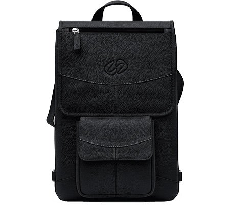 MacCase Premium Leather 13″ MacBook Pro Flight Jacket w/ Backpack Option (Black)