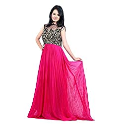 SD Creation Pink Color Embroidery Work Gown