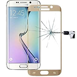 Mobidoc Edge to Edge Pre-Curved Golden Tempered Glass For Galaxy S6 Edge