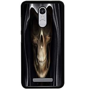 Casotec Devil Skull Design 2D Hard Back Case Cover for Xiaomi Redmi Note 3 - Black