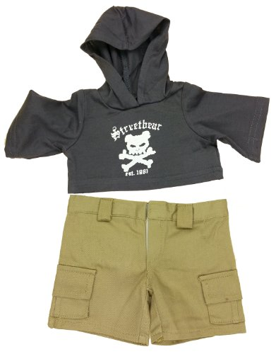 "Street Bear Outfit Fits Most 14"" - 18"" Build-a-bear, Vermont Teddy Bears, and Make Your Own Stuffed Animals"