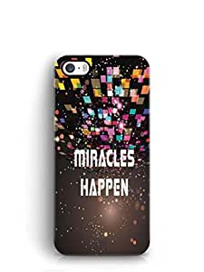 YuBingo Miracles Happen Mobile Case Back Cover for Apple iPhone 5S