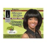 Doo Gro Mega Style Relaxer System Smooth And Straight Formula With Pure Olive Oil (Regular)