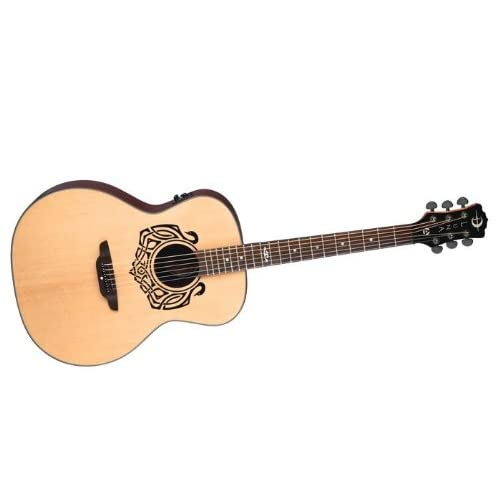 Luna Celtic Series Swan Acoustic-Electric Guitar, Solid Spruce Top - Natural Best Quality