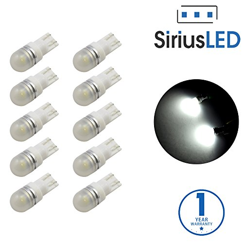 SiriusLED 5050 SMD Pack of 10 LED Interior Dome Map Lights White 6000K 194 T10 168 (2007 Gmc Yukon Interior Parts compare prices)