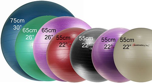 As a rule, the taller you are, the higher your yoga balls should be