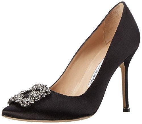 manolo-blahnikimperiali-satin-scarpe-con-tacco-donna-nero-nero-nero-37