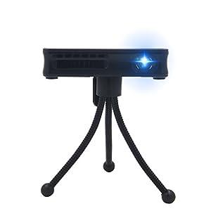 SHARPTECK P8 Mini Vidéoprojecteur DLP 3D 50 ANSI Lumens Full HD 1080P Androïd 4.4 WiFi Pico Projecteur LED Portable Home Cinéma avec HDMI USB pour Jeux Vidéo TV PC Smartphone iPhone Samsung Noir